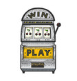 slot machine gambling device sketch vector image vector image