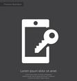 smartphone lock premium icon white on dark backgro vector image