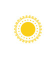 sun logo template vector image