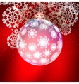 Transparent glass Christmas Ball with snowflakes vector image