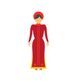 vietnam woman icon flat style vector image