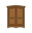 wardrobe wood retro furniture for clothes vintage vector image