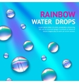 Water Drops With Rainbow vector image vector image
