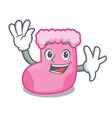waving sock character cartoon style vector image