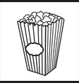 with sketch popcorn bucket vector image vector image