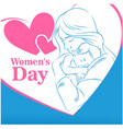 womens day mom son heart frame woman blue backgrou vector image vector image