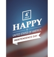 Retro card for Independence Day of America vector image