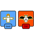 good and evil symbols vector image