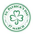 St patrick stamp clover vector image