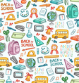 School pattern in color vector image