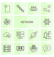 14 network icons vector image vector image