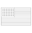 35 star united states flag 1863 vintage vector image vector image