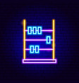 abacus neon sign vector image vector image