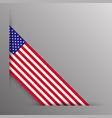 american flag ribbon corner border vector image