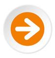 arrow in circle icon circle vector image vector image
