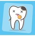 Bad tooth with caries cavity and lollipop vector image vector image