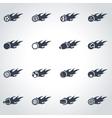black file sport balls icon set vector image vector image