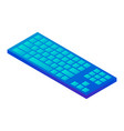 blue keyboard icon isometric style vector image vector image