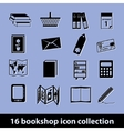 bookshop icons vector image vector image