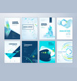 brochure and annual report templates vector image vector image