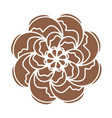 brown russian culture flower shape good fo vector image