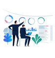 business analytics design concept and business vector image