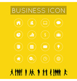 Business icon with Silhouette people vector image vector image