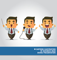 Cartoon of business man doing presentation vector image