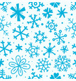 cartoon style seamless pattern snowflakes vector image vector image