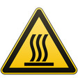 caution - danger hot surface warning sign vector image