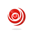 circle round swirl logo vector image vector image