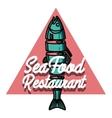 Color vintage seafood restaurant emblem vector image vector image