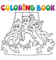 coloring book aquapark theme 1 vector image