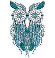 dreamcatcher owl vector image vector image
