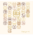 Egypt symbol icon set with a lot of symbols vector image vector image