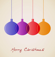 Elegant Christmas decoration background vector image