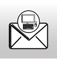 email computer concept digital online icon vector image vector image