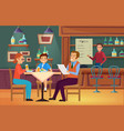 family people eat food in cafe mother father vector image