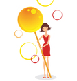 Girl with candy vector image vector image