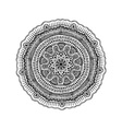 graphic isolated circle mandala design vector image