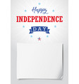 happy independence day usa light banner vector image vector image