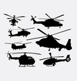 helicopter transportation silhouette vector image