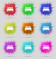 Hotel bed icon sign A set of nine original needle vector image vector image