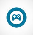 joystick bold blue border circle icon vector image vector image