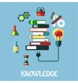 Knowledge and web education flat design vector image vector image