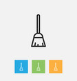 of cleanup symbol on besom vector image vector image