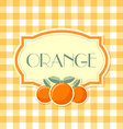 Orange label vector image