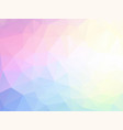 pastel geometric low poly background vector image vector image