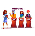 people on quiz game show vector image vector image