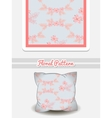 Pillow Pink Flowers vector image vector image